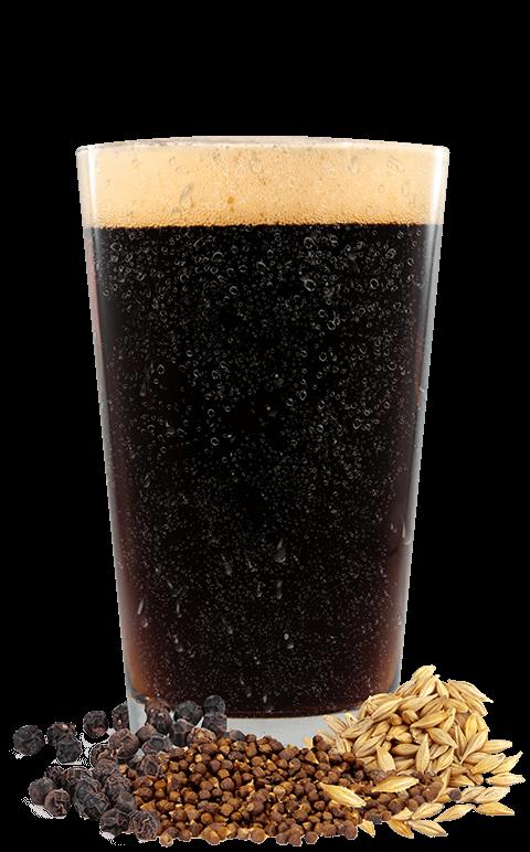 Black Lager Glass