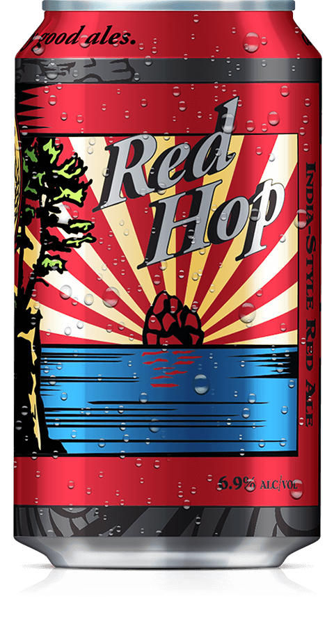 Red Hop Can
